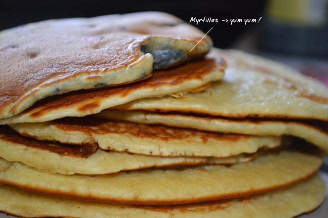 pancakes n myrtilles