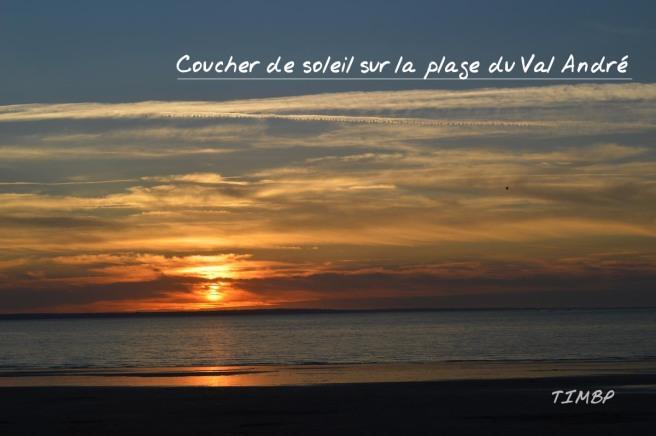 Coucher du soleil - Pleneuf Val andré copie