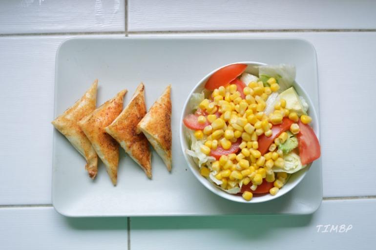 Brick - poulet - ricotta-menthe- assiette