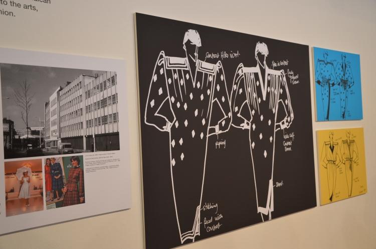 Drafts from  Lorna Holder, Head of Fashion for Davis and Field from 1979-1986. Dessins par Lorna Holder, Directrice artistique de la maison de Davis et Field de 1979 a 1986