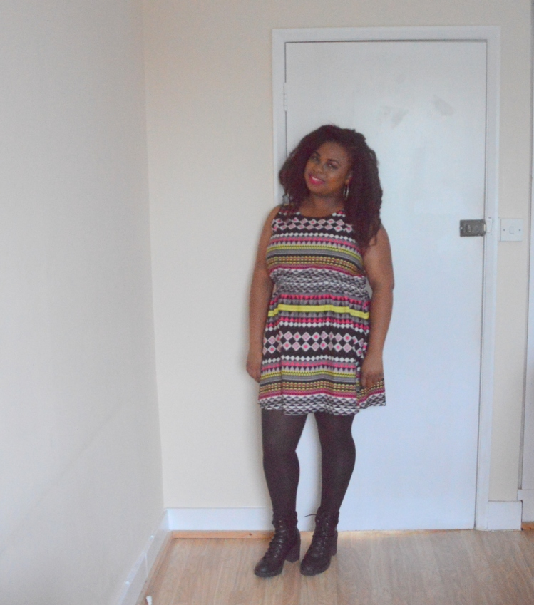 Birthday outfit - aztec printed dress-modifie