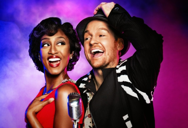 Memphis. Beverley Night as Felicia Farrell and Killian Donnelly as Huey Calhoun. Photo credit Matt Crockett. 5
